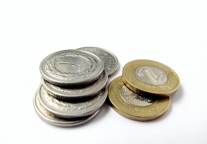 Polish coins royalty free stock photo