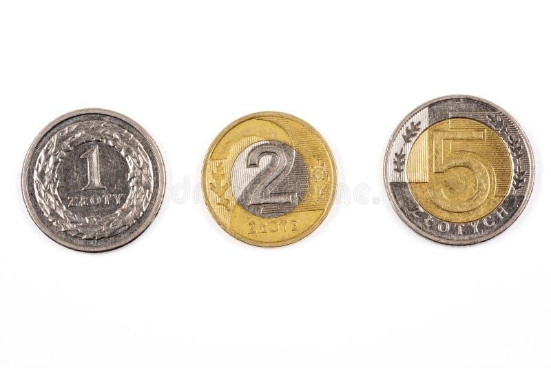 Polish coins. On a white background stock photo