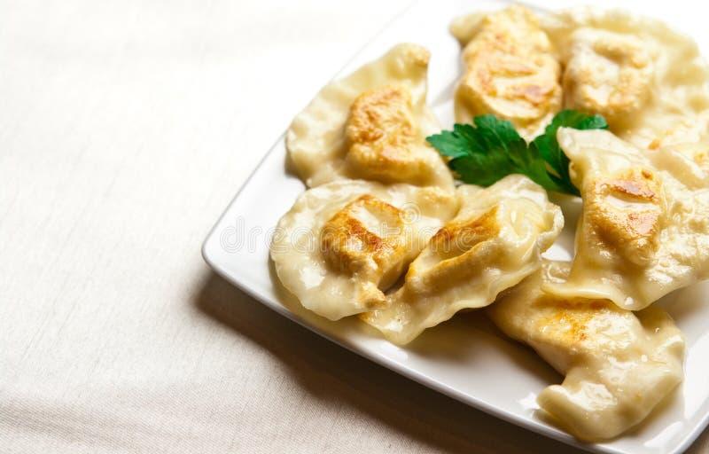 Polish dumplings stock image