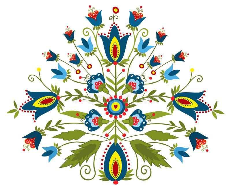 Polish embroidery design - inspiration. Polish folk - traditional design with floral royalty free illustration