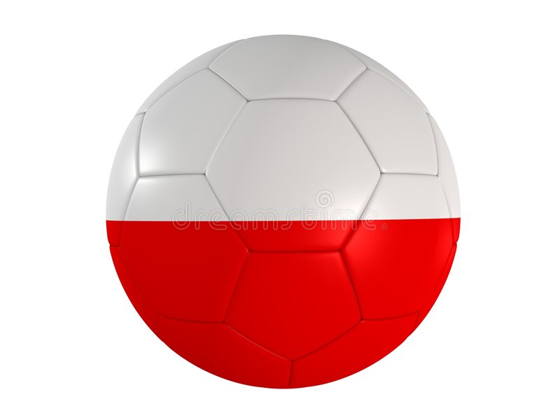 Polish Flag On A Football Royalty Free Stock Image