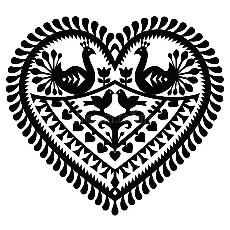 Free Polish Folk Art Heart Pattern For Valentine Stock Images - 77602904