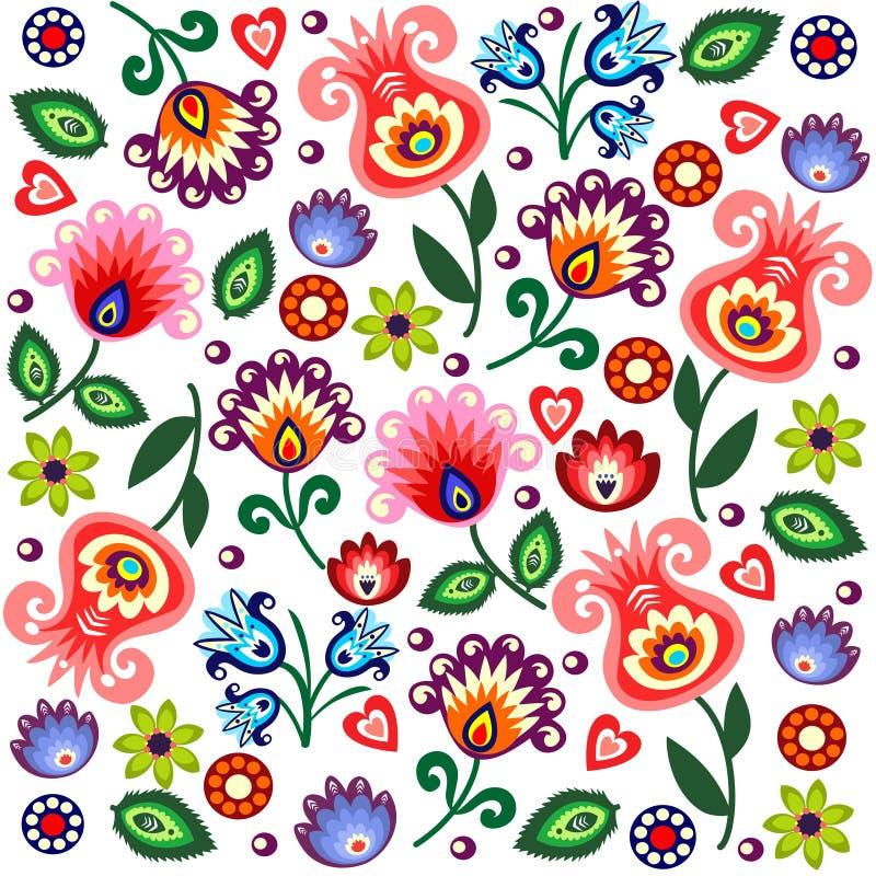 Polish folk background vector illustration