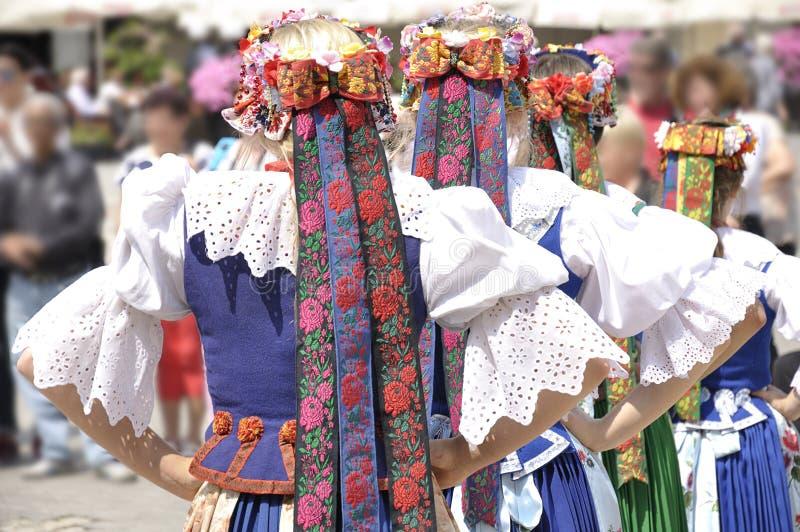Polish folk costume stock image