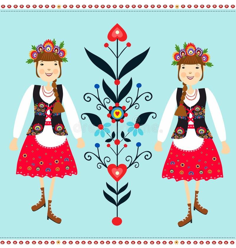 Polish folk stock illustration