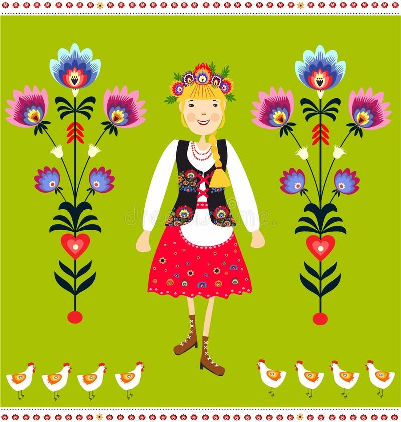Polish folk vector illustration
