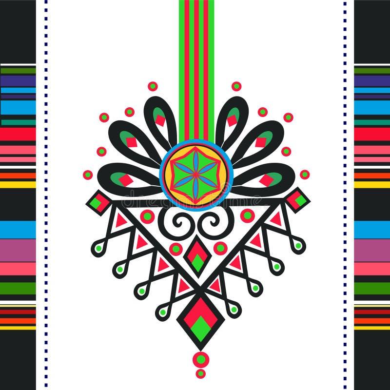 Polish folk. Design, pattern parzenica vector illustration