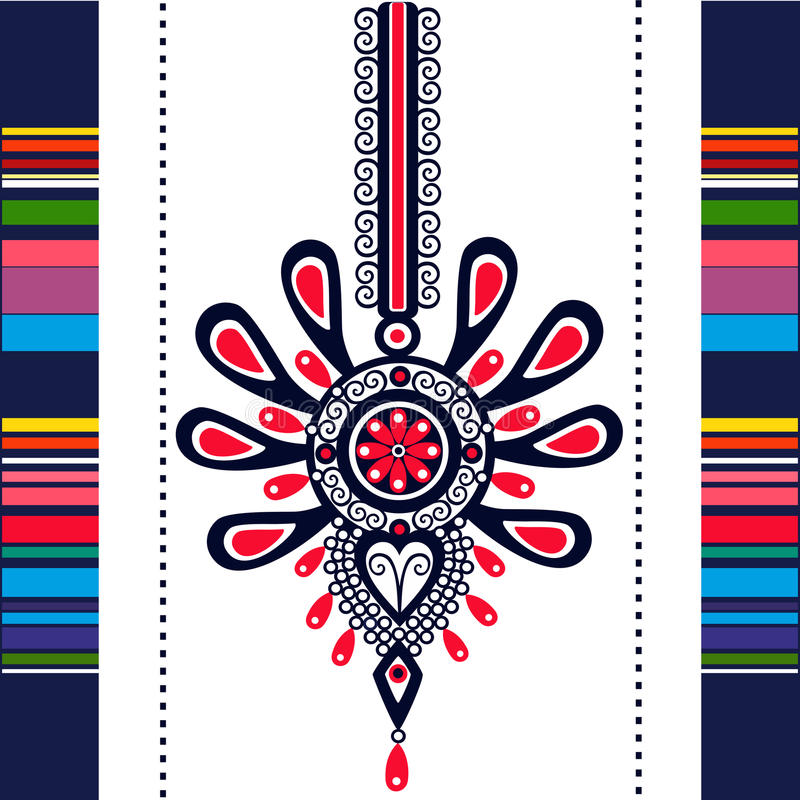 Polish folk - inspiration. Polish Folk Inspiration - traditional pattern ebroidery royalty free illustration