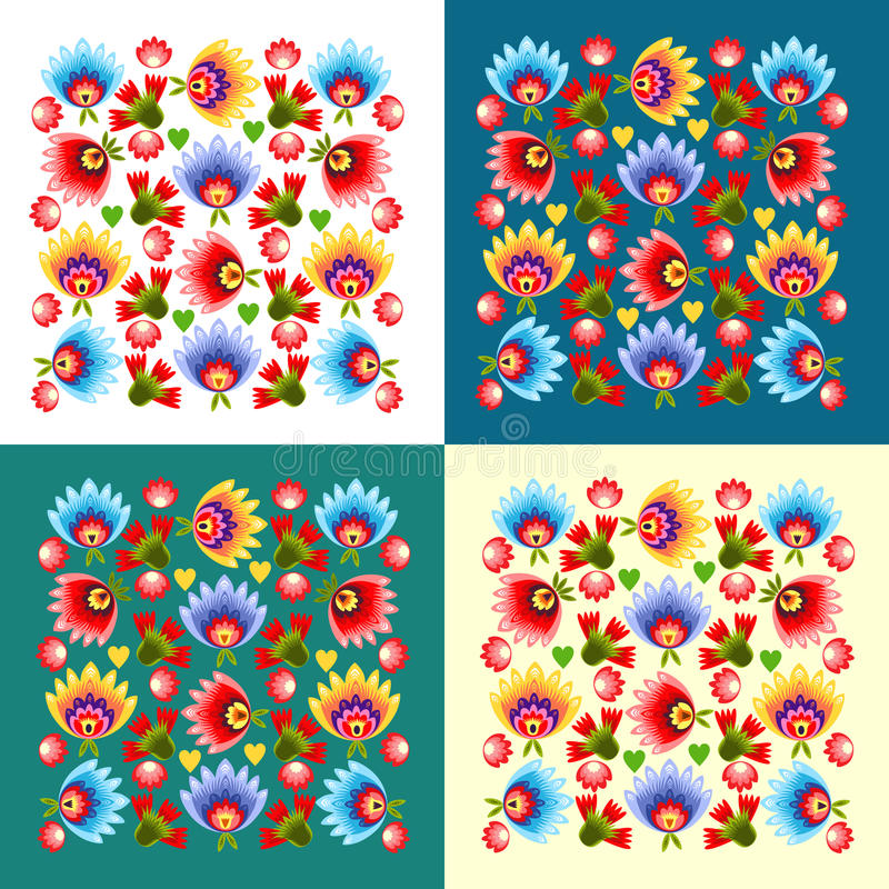 Polish folk pattern. Polish folk design, pattern bacground vector illustration
