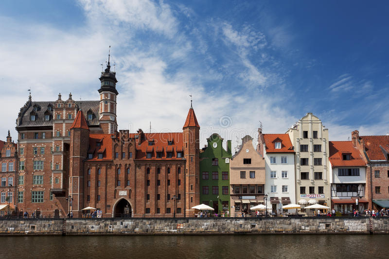 Polish Gothic architecture. In Gdansk Poland stock photo