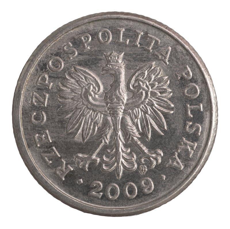Polish 20 groszy coin. Polish 20 groszy silver coin stock image