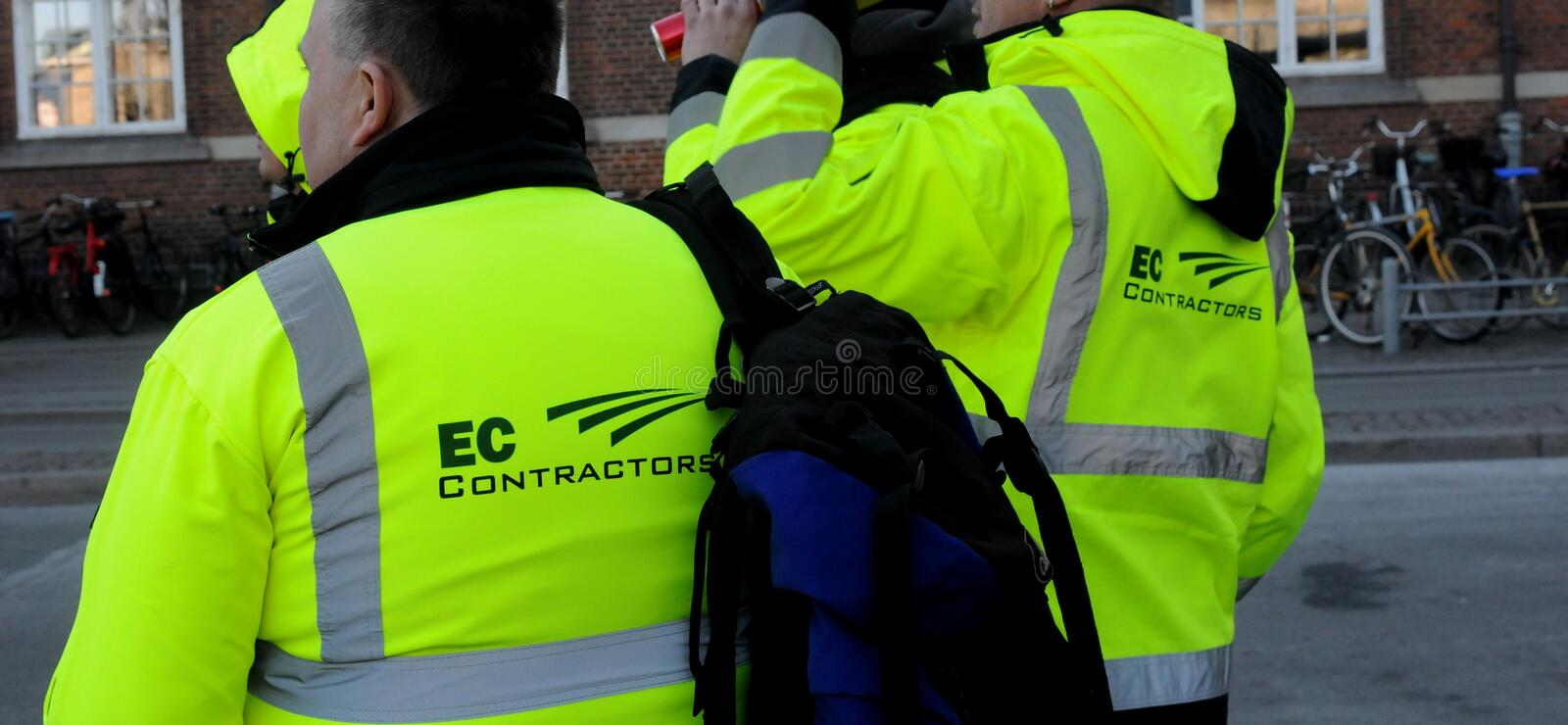 POLISH MIGRANT WORK WITH METRO CONSTRUCTIONS stock photos