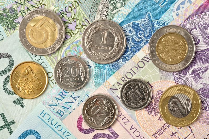 Polish money stock image  Image of bank, coins, currency