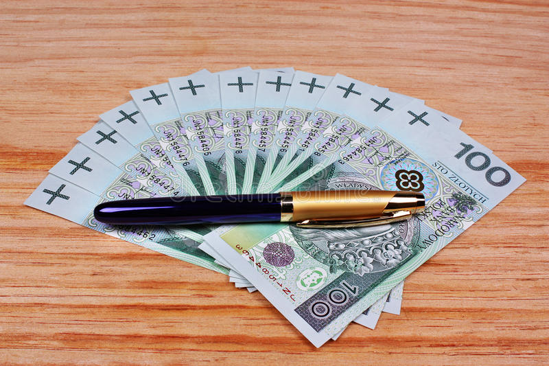 Download Polish money and pen stock photo. Image of account, banking - 36381140