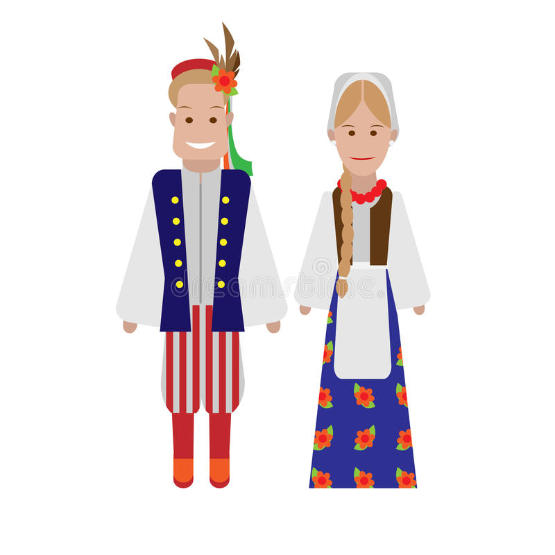 Polish National Costume Stock Photography