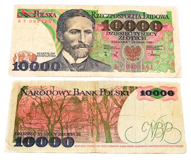 Polish old banknote