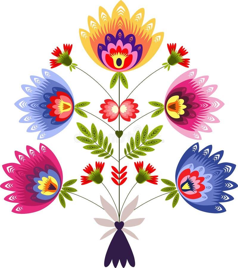 Polish ornament. Polish folk - traditional design with floral royalty free illustration