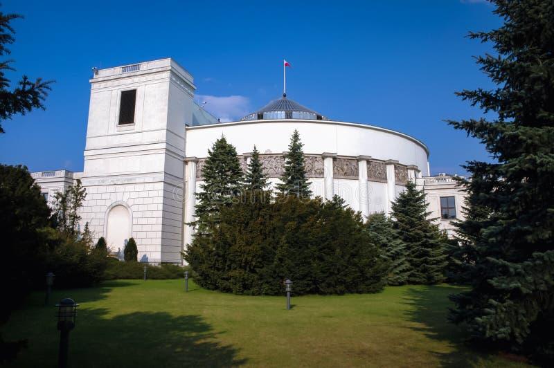 Polish parliament building royalty free stock photo