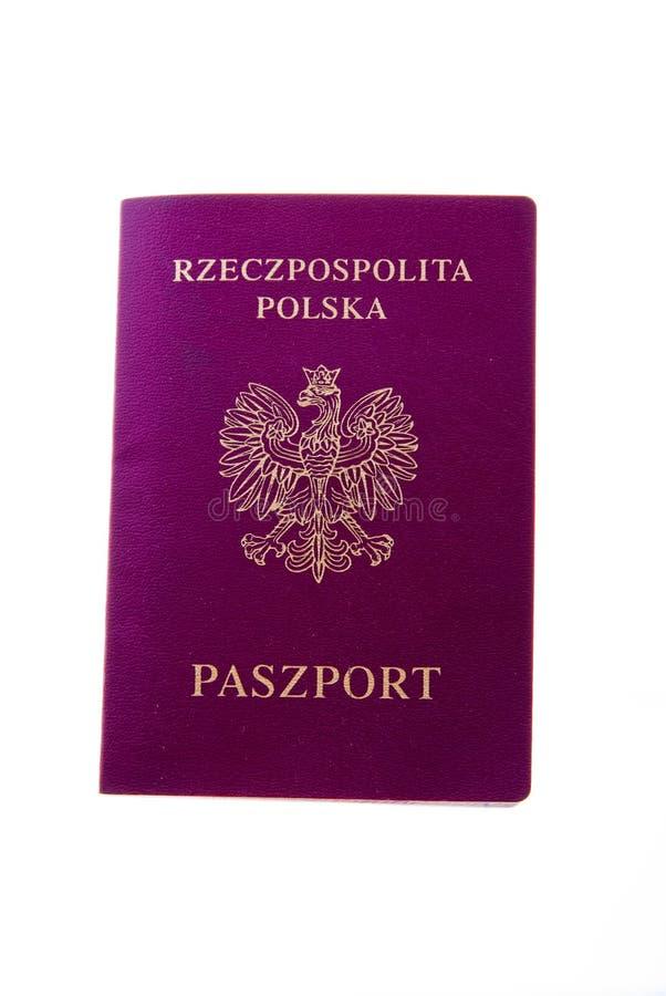 Polish passport. Isolated on the white background stock images