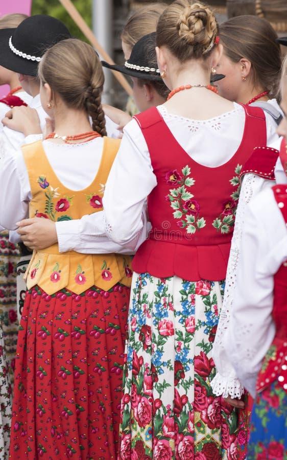 Traditional Polish folk clothes in Zakopane, Poland royalty free stock images