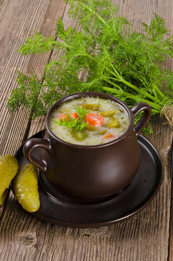 Download Polish Pickled Cucumbers Soup Stock Image - Image of carrot, lunch: 23814527