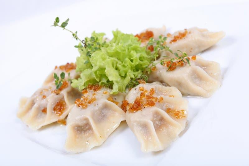 Download Polish Pierogi, Dumplings With Meat Stock Photo - Image of lettuce, dairy: 18919138