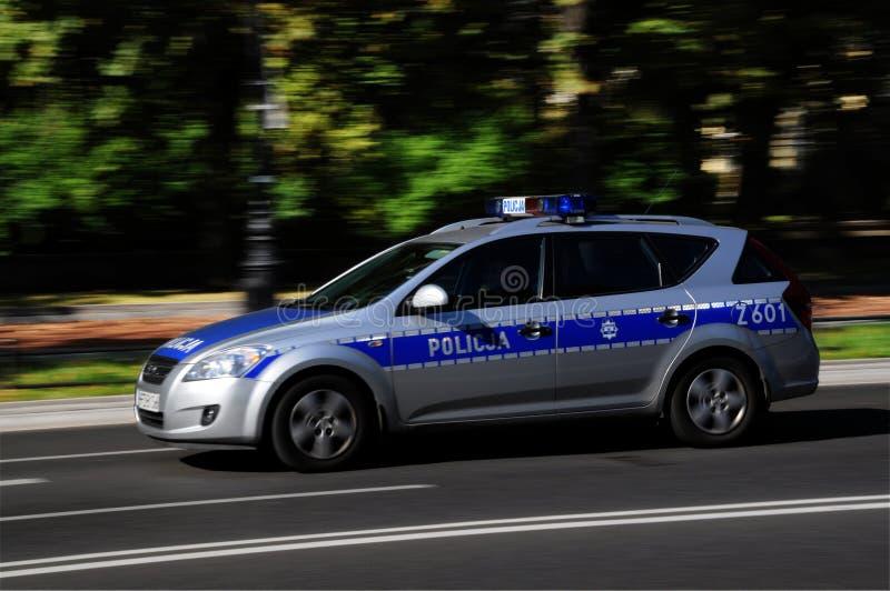 Polish Police vehicle on the move
