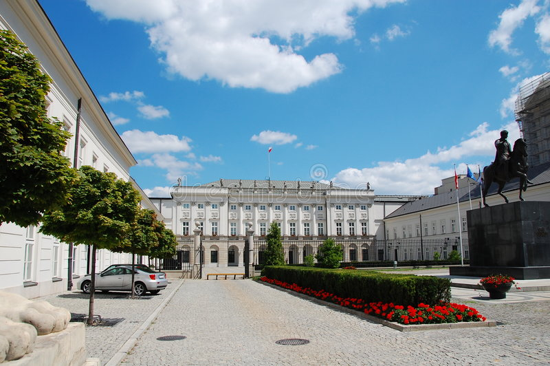Download Polish presidential palace stock photo. Image of president - 8227774