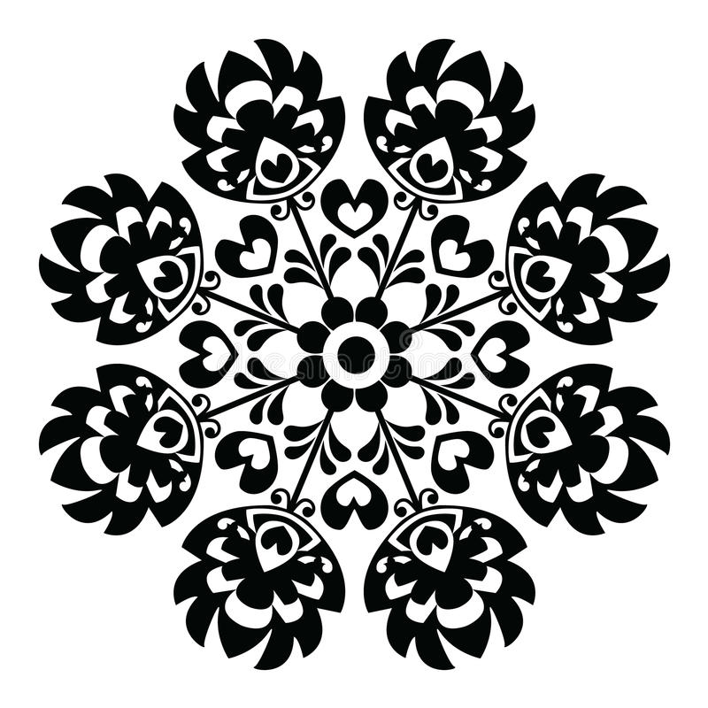 polish round black folk art pattern stock vector illustration of rh dreamstime com floral vector pattern free download floral vector pattern free download