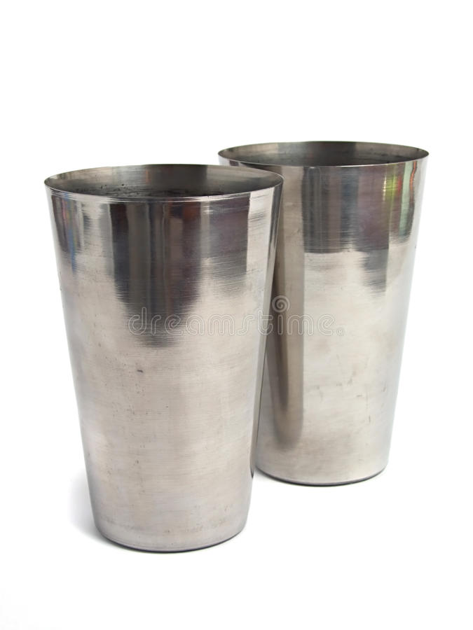 Free Polish Steel Cup Over White Stock Image - 10448701