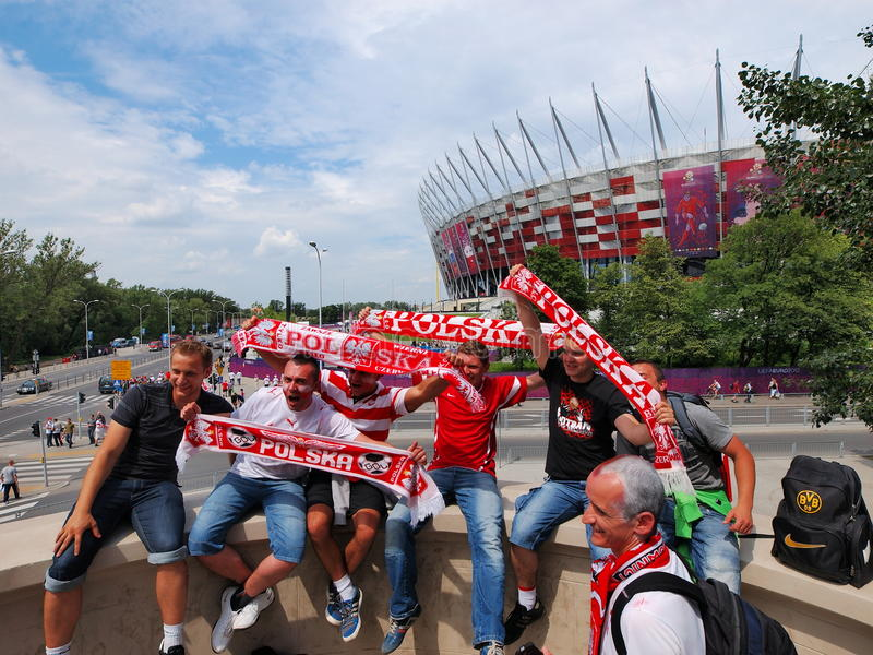 Download Polish Supporters editorial image. Image of happiness - 25185075