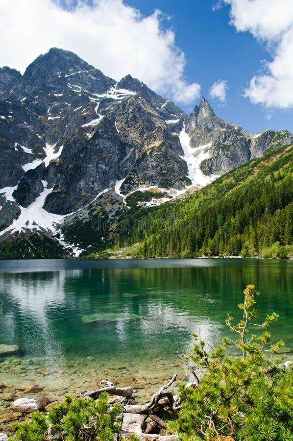 Free Polish Tatra Mountains Morskie Oko Lake Royalty Free Stock Image - 25409196