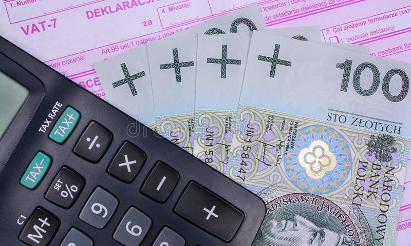 Download Polish tax stock image. Image of document, bill, earning - 36382685