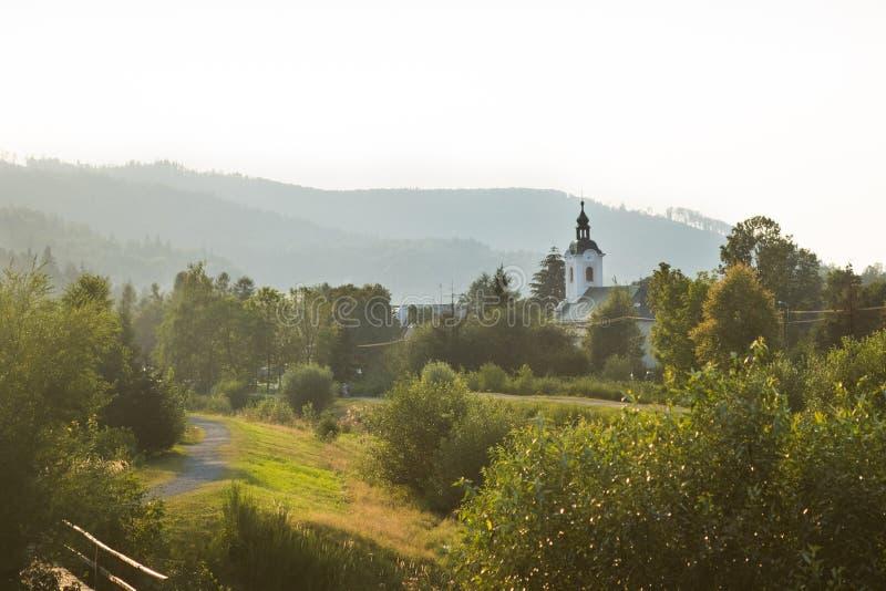 Polish town brenna landscape royalty free stock image
