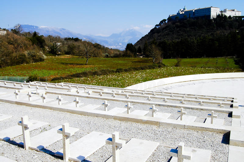 Polish WWII Cemetary - Monte Cassino - Italy. Polish WWII Cemetary in Monte Cassino - Italy royalty free stock photo