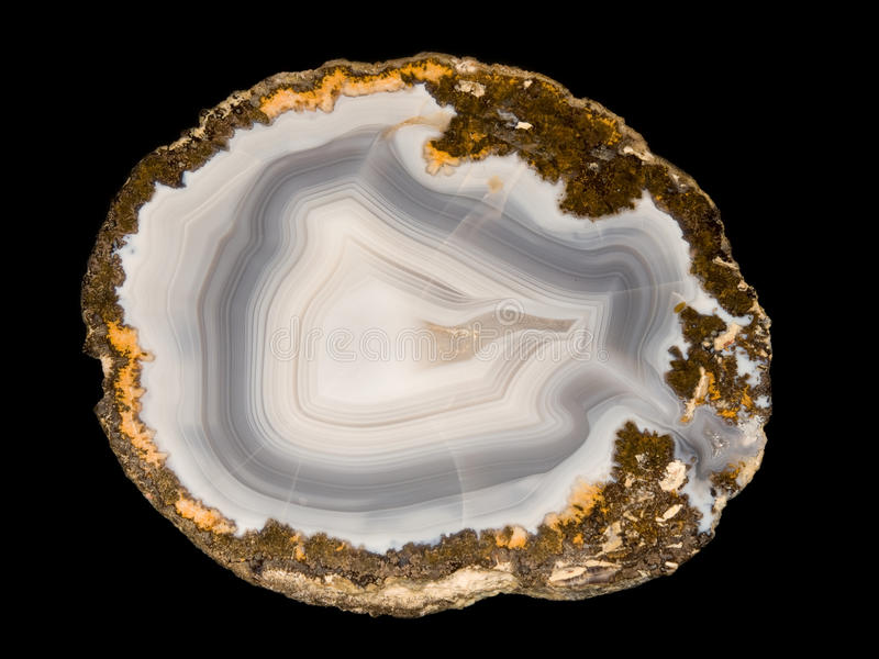 Download Polished agate stock image. Image of banded, mineral - 17397491