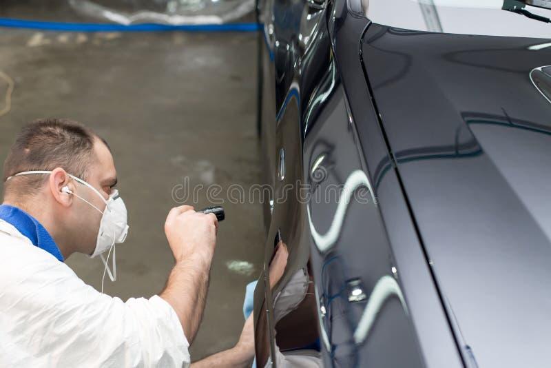 Polished black car royalty free stock images