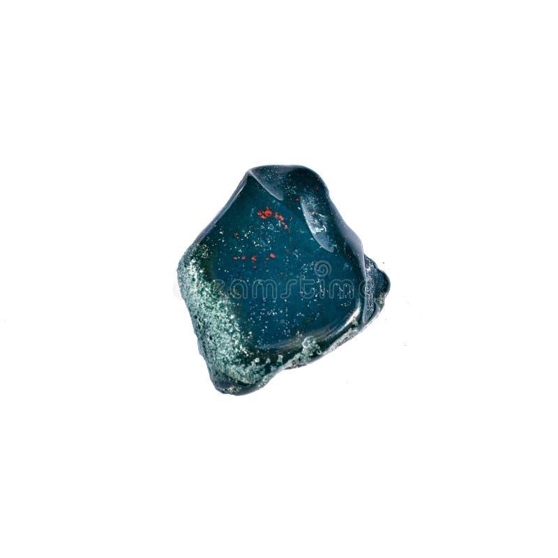 Polished Bloodstone Crystal Healing Stone royalty free stock photo