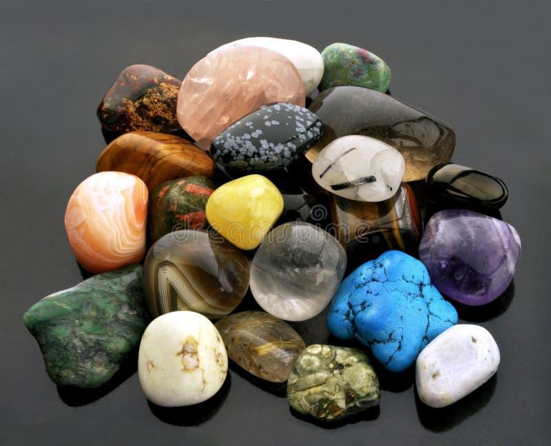 Polished gemstones royalty free stock photo