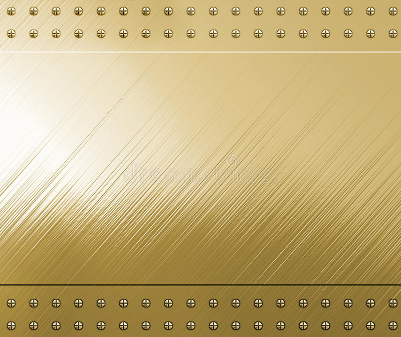 Polished Gold With Screws Royalty Free Stock Images