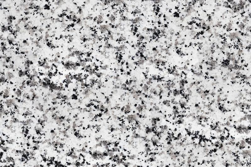 Polished granite texture. Close-up of granite slab patterns, black and white royalty free stock photo