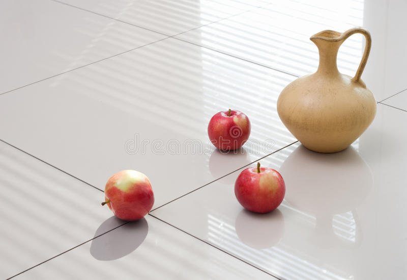 Polished gress floor. Still life stock image