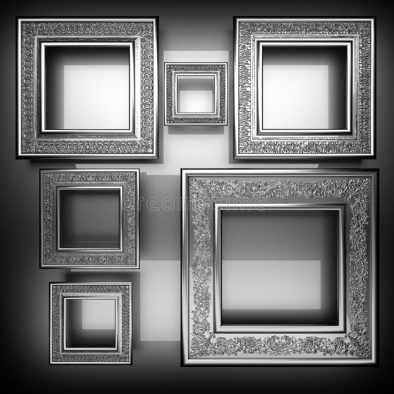 Polished metal background stock image