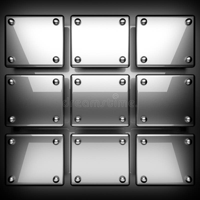 Polished metal background stock photo