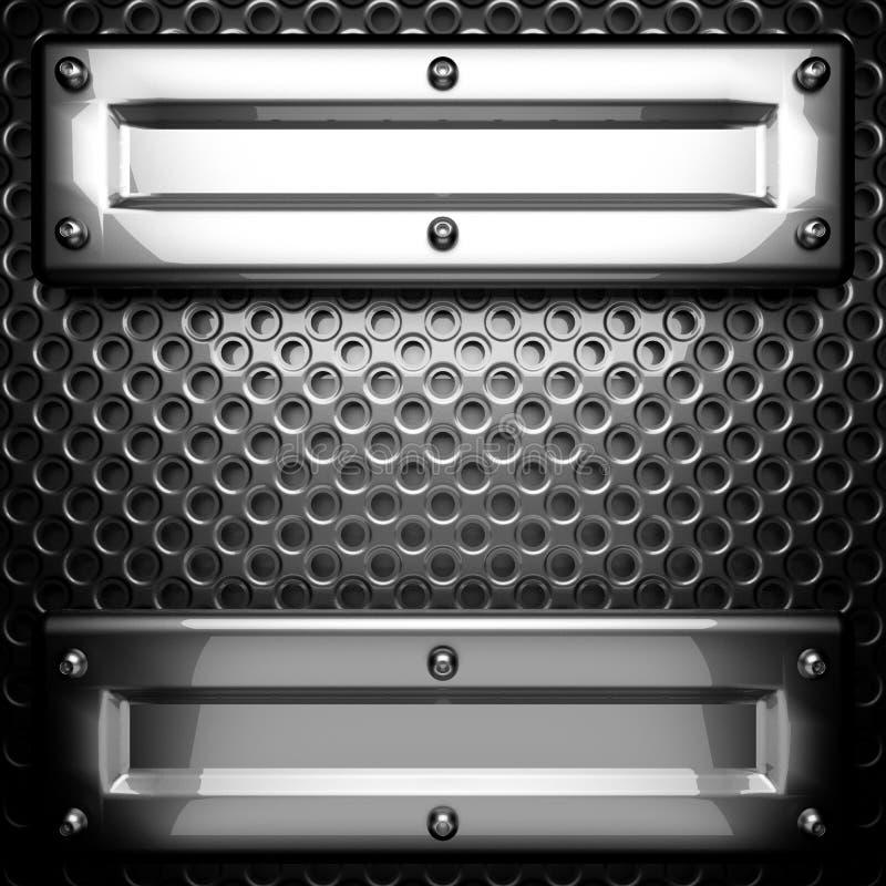 Polished metal background stock images