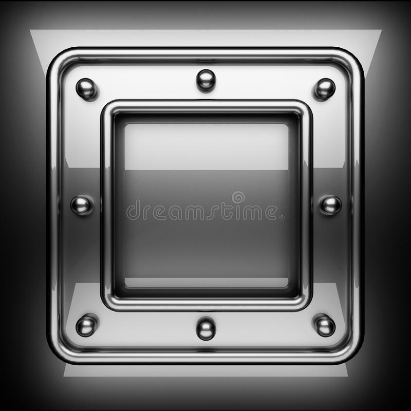 Polished metal background. 3D rendered stock photos