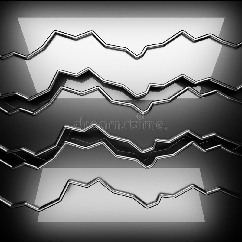 Polished metal background. 3D rendered royalty free stock image