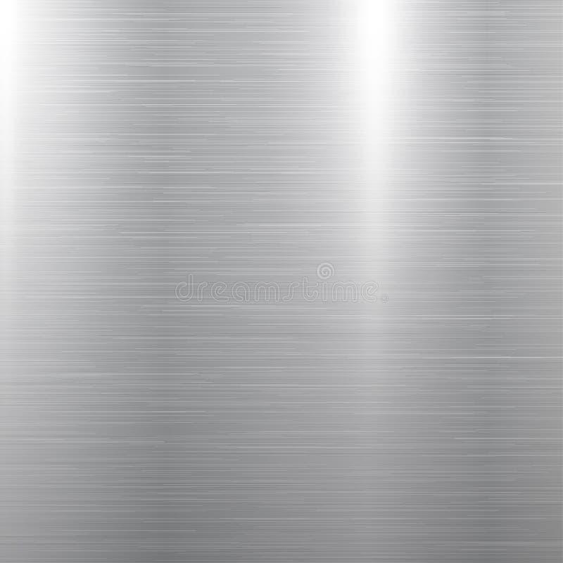Polished metal texture. Polished square metal texture background. Vector illustration stock illustration