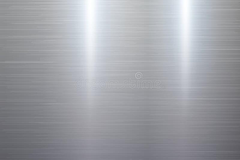 Polished metal texture. Polished wide metal texture background. Vector illustration stock illustration