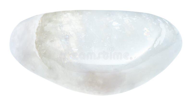 Polished moonstone adular stone isolated royalty free stock photos